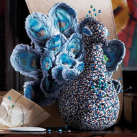 Liberty Peacock Pincushion
