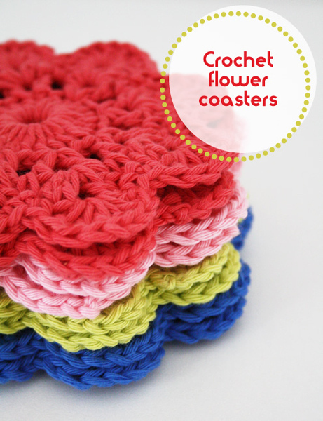 Crocheting Coasters : Crochet Flower Coasters ? Craft Finds ? Cut Out + Keep Craft Blog