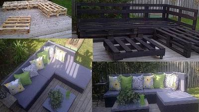 Medium pallet board furniture
