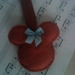 Minnie Mouse Style Keyring