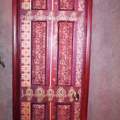 Decoupaged Door