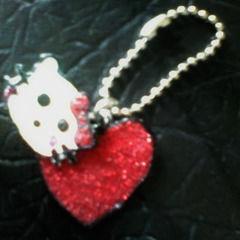 Kitty Heart Keyring