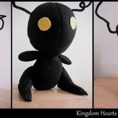 Shadow Heartless Plushie   Kingdom Hearts