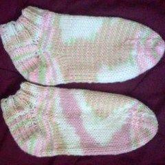 Multi Colored Strawberrys And Mint Dorm Socks