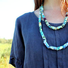 Diy Fabric Beaded Necklace