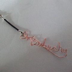 Bubuchu Wire Writing Phone Strap