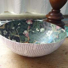 Vintage Paper Bowl