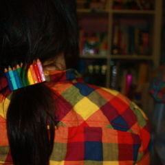 Rainbow Pencil Barrette