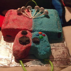 Red Vs Blue X Box Themed Cake