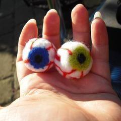 Needle Felted Eyeballs