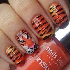 Tiger Nails. Rawr!