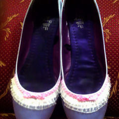 Purple Ruffle Shoes