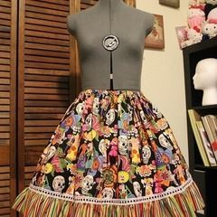Day Of The Dead Skirt
