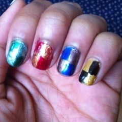 Hogwarts Themed Nails