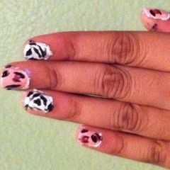 Cheetah And Zebra Nails