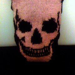Knitted Skull Pillows