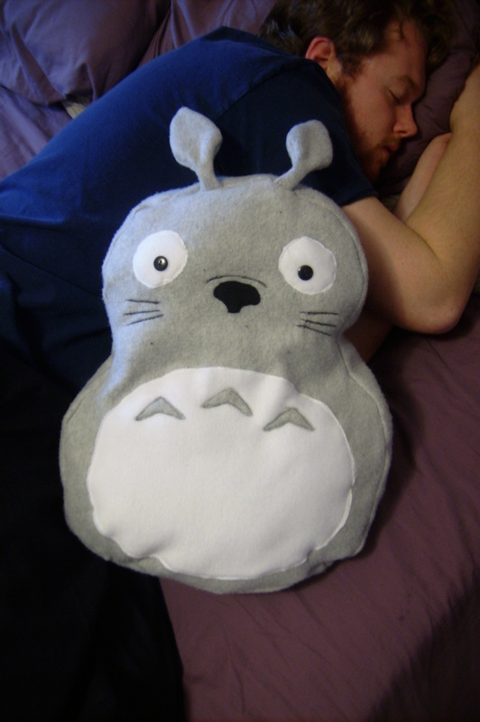 Totoro Pillow Plushy 183 How To Make A Bear Plushie 183 Embroidery And Sewing On Cut Out Keep