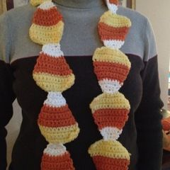 Candy Corn Scarf: Crochet!