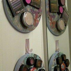 Organized Makeup Display