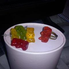 Gummy Bear Ring And Earrings.