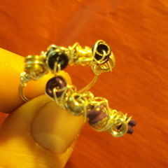 Sparkling Rings From Ball End Strings.