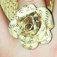 Paper Rose Ring