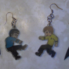 Star Trek Shrinky Dink Earrings