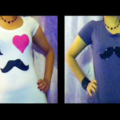 Diy I Love Mustaches Tee