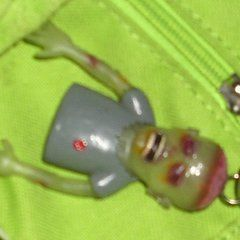 Zombie Finger Puppet Key Chain