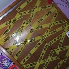 Caution Tape Doors