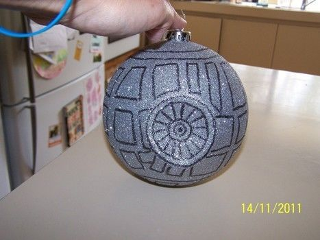 Death star .  Make a tree ornament in under 20 minutes by creating and drawing with permanent marker, computer, and christmas ball ornament. Inspired by christmas. Creation posted by pixieinoz. Difficulty: Easy. Cost: Absolutley free.