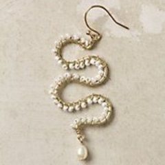 "Anthropologie ""Frozen Waves Earrings"""
