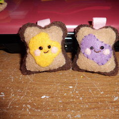 Peanut Butter And Jelly Plushie Keychains