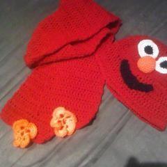 Elmo Hat & Scarf