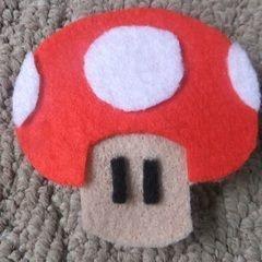 Mario Mushroom Brooch
