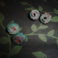 Paper Flower Earrings!
