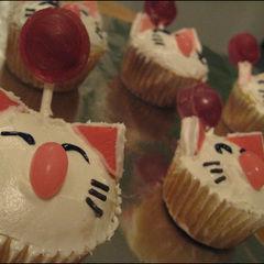 Moogle Cupcakes