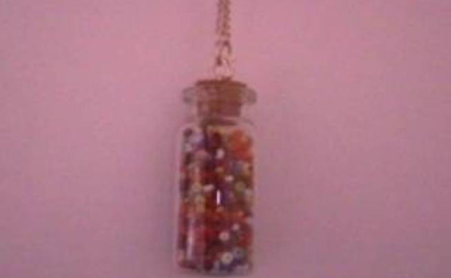 Tiny Jar With Beads