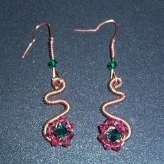 Flowerette Dangle Earrings