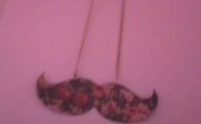 Two Sided Mustache Necklace