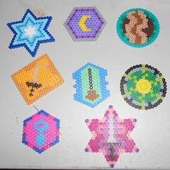 Witchy Coasters From Perler Beads