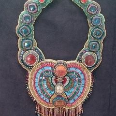 Beaded Collar: Scarab