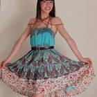 Bead Choker Dress