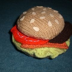 Knitted Burger Coaster Set