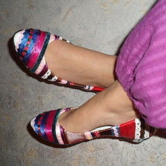 Stripey Ribbon Shoes
