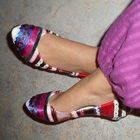 Stripey Ribbon Shoes