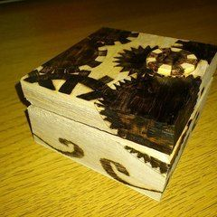 Pyrography Jewelry Box