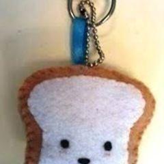 Plush Toast Keychain