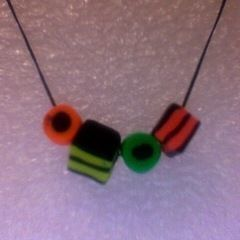Licorice Allsorts Beads/Necklace