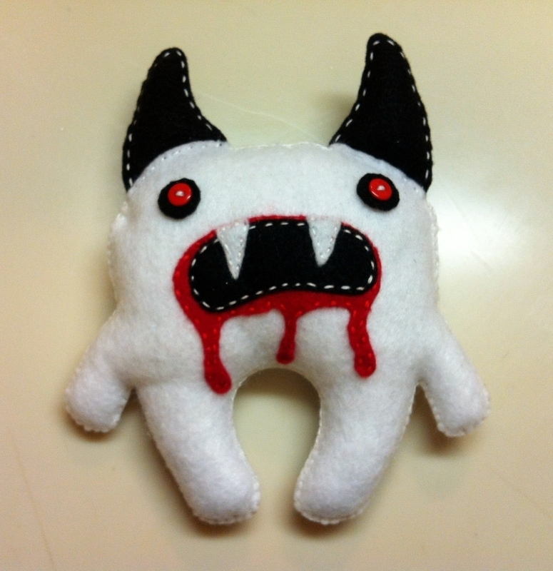 Scary Monster Plushie · A Food Plushie · Sewing on Cut Out ...